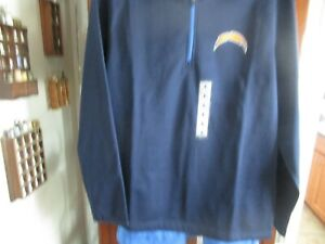 NFL Football Los Angeles Chargers Team Apparel Large  HALF Zipper Blue Jacket