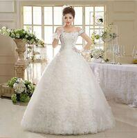 Hochzeitskleid Brautkleid Kleid Braut Ballkleid Abendkleid creme weiß NEU BC291