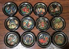 Russian Legends Plates Complete Collection of 12 -Tianex The Bradford Exchange