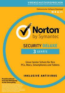 NORTON Security Deluxe 2021 - 3 Geräte - 1/2/3 Jahre (ESD) Internet Security DE