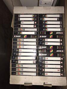VHS Kassetten bespielt ca. 80 St. versch. Längen und Marken