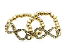 2 Crystal Stretch Infinity Rings