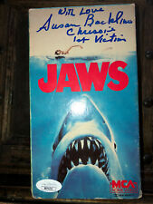 Jaws Vhs Movie signed By Susan Backlinie Jsa Cert.