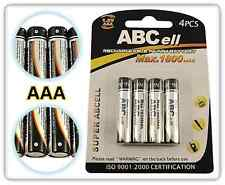 ABCell 4 x 1800mAh AAA RECHARGEABLE Ni-MH NiMH BATTERIES 1.2V - LR03 R03 1800