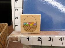 basket easter egg holiday rubber stamp 3x