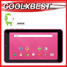 "7"" PINK ANDROID 6.0 TABLET PC QUAD CORE 16GB BLUETOOTH & WiFi KIDS STUDENT"