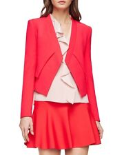 NEW BCBG MAX AZRIA RED BERRY LLOYD EASY LAYERED JACKET RND4G186/S257A SIZE S