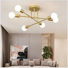 6-köpfige Messing-LED-Kronleuchter Pendelbeleuchtung kreative Deckenleuchten