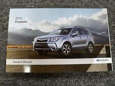 2015 Subaru Forester SUV Owner Manual 2.0XT 2.5i Limited Premium Touring CVT