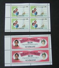 St Vincent 1981 Royal Wedding booklet panes MNH UM unmounted mint Princess Diana