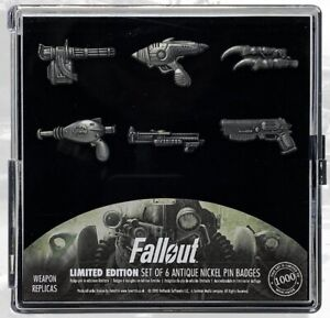Fallout Pin Set - Weapons Official Gaming Badge NEW