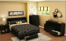 South Shore Holland Collection Pure Black Full/Queen-Size Metal Frame Headboard