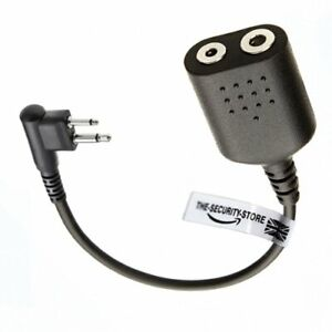 THE-SECURITY-STORE Adaptor for ICOM 2 Pin Earpiece and MOTOROLA 2 Pin Radio