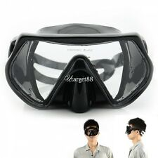 Scuba Diving Swimming Snorkeling Water Glass Goggles Tempered Lens Mask UTAR