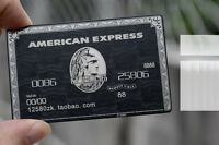 American Express (AMEX) Black Centurion Card METAL Customize Gift Birthday