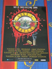 GUNS N ROSES - Not In This Lifetime 2017 Australian Laminated Tour Poster.