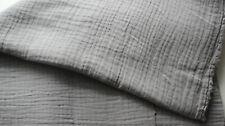 SALE - Mousseline hellgrau 50 x 130 cm