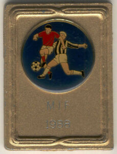 Table medal W87 Sports SOCCER Football 1988 Sweden Metal 42x56mm