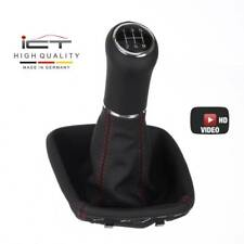 New ICT gear shift knob gaiter boot Mercedes A class W169 leather thread red C61