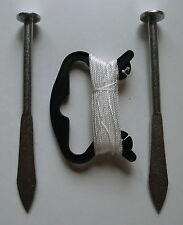 Schnurspann Set Gartenschnur mit Schnur und 2 Pflöcken - NEU