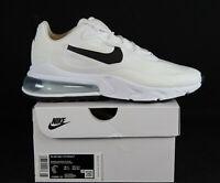 New Nike Air Max 270 React Women's in White/Black-Metallic Silver Colour Size 7