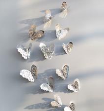 12 Stk 3D Schmetterling Wandaufkleber Kunst Aufkleber Home Alle Zimmer