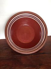 Pennsylvania Redware Slipware Decorated Charger Plate 3  Mocha Bands Bowl