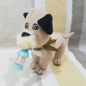 102 Dalmatian Oddball Dog 15cm Soft Toy Plush With Light Up Bottle In Mouth.