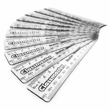 "100 x Clear Plastic Ruler 6"" 15cm Metric Rulers - Shatter Resistant Classpack"
