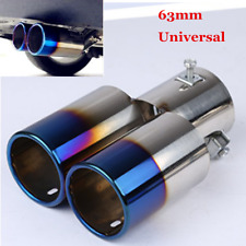 63mm Car Accessorie Stainless Steel Roasted Blue Exhaust Tail Muffler Tip Pipe