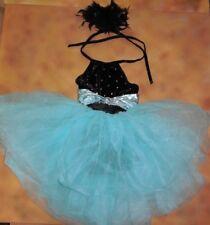 NWOT Weissman's Ballet Dance Black Velvet Halter European Length Costume Lrg Chd
