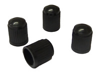 4 x Quality Black Plastic Universal Tyre Valve Dust Caps Car Bike Bicycle Van