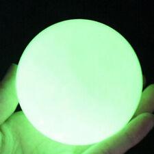 Luminous Quartz Glow In The Dark Stone Sphere Ball Stand Green Crystal 35mm