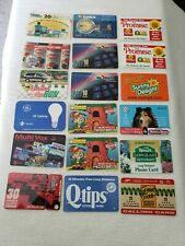Lot 18 phone cards all from send in promotions from companies 1995-2000 EXPIRED