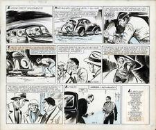 ALBERTO BRECCIA Jean de la Martinica ORIGINAL COMIC STRIP ART circa 1947