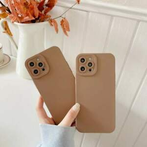 Case For iPhone 11 12 13 Pro Max 7 8 X XR Pure Color Soft Liquid TPU Phone Cover