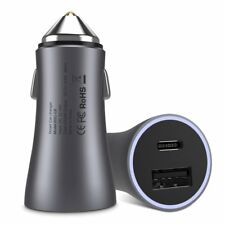 USB Car Charger, BrexLink Metal Dual Car Charger Adapter [24W/4.8A] Space Grey