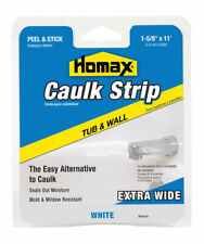 Homax  White  Silicone  Caulk Strips  1-5/8 in. x 11 ft.
