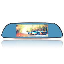7'' 1080P HD Dual Len Car Rearview Mirror DVR Dash Camera Recorder GPS Navigator