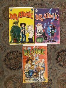 DR. ATOMIC 1 (1st) 2 (1st) 3 (5th) 1972 LAST GASP UNDERGROUND COMICS VF/NM