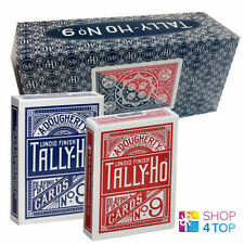 BICYCLE TALLY HO FAN BACK 12 DECKS PLAYING CARDS SEALED BOX CASE RED AND BLUE