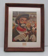 "Leslie Emery ""Golfer Clown"" Series Lot of 7 Vintage RePrints Frames Not Included"