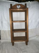 "Handmade Wooden Wall Hanging Knick Knack Shelf 24"" H X 9"" W X 6"" D  Heart"