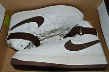 New Mens Nike Air Force 1 HI Retro QS AF1 Shoes white/Chocolate 743546-102 11.5