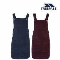 Trespass Twirl Womens Pinafore Dress Cotton With Pockets Dungaree Corduroy