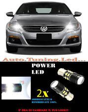 COPPIA LAMPADE LUCI DIURNE LED 6000K P21W BA15 VW PASSAT CC NO ERROR CAMBUS
