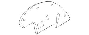 Genuine GM Shield-Frt W/H Pnl Sph 15708731