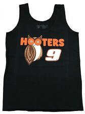 NEW HOOTERS AUTHENTIC LYCRA BLACK UNIFORM TANK TOP CHASE ELLIOTT #9 (S) SMALL