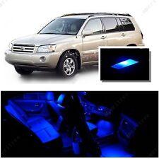 For Toyota Highlander 2008-2015 Blue LED Interior Kit + Blue License Light LED