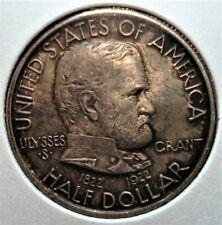 1922 US Silver Ulysses S. Grant Commorative Half Dollar, Nice Tone